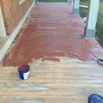 porch - sand fill and trowl
